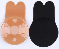 ingrosso nastro di nastro sexy-Rabit Shape Breast Lift Tape Intimates Sexy Underwear Accessories Women Silicone riutilizzabile Push Up Breast Capezzolo Cover Invisible Bra adesivo