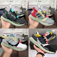 zapato de correr al por mayor-Zapatillas ZX4000 Futurecraft 4D para hombre Zapatillas ZX 4000 Designer Sneaker 36-45