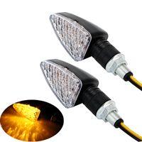 moto allumer la lumière achat en gros de-Clignotante de moto 15 LEDs Clignotant Accessoires de moto Voyant de moto LED Turn Light 12V