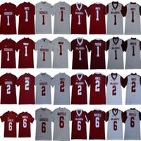große trikots groihandel-NCAA Oklahoma Sooners College 6 Baker Mayfield Trikot 1 Kyler Murray 1 Jalen Hurts 28 Adrian Peterson Rot Weiß Fußball Big 12 XII