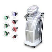 vakum ultrason toptan satış-2019 Yeni 7 in 1 sıcak satış 80 K kavitasyon + 40 K Vakum Kavitasyon Sistemi ultrason tripolar sixpolar vücut zayıflama makinesi