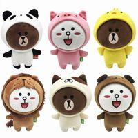 boo bebeği toptan satış-6 Adet / grup 20 CM Beanie Boos Kahverengi Ayı Arkadaşlar Altı Stilleri Mevcut Cony SALLY Peluş Bebek Oyuncak Dolması Hediye Çocuk Oyuncakları hediyeler