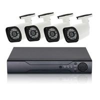 Wholesale video surveillance dvr kit resale online - 4CH CCTV System P AHD Camera HDMI H DVR Video Surveillance System Outdoor Waterproof IR CUT Security camera kit