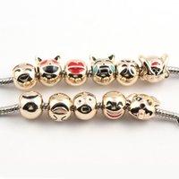tierperlen für armbänder großhandel-Mix Styles Kleine tierische europäische Legierung Perlen passen Pandora Schmuck Diy Charm Bracelets Halskette