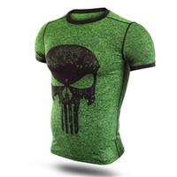 base layer toptan satış-Erkek Boys Avengers Sıkıştırma Zırh Bankası Katman Kısa Kollu Termal Altında Üst T-shirt joges tişört Spor T-shirt