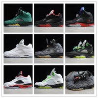 Wholesale grape 5s for sale - Group buy New Jumpman s top Fire Red Michigan Mens Basketball Shoes Black Grape Fresh Prince Black Muslin Satin Bred Designer Sneakers