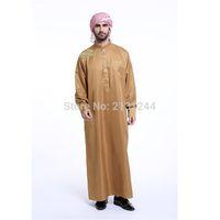 восток модная одежда оптовых-Fashion Muslim Clothing Men Robes Long Sleeve Embroidery Pattern Arab Dubai  Middle East Islamic Muslim Cloth Of Men