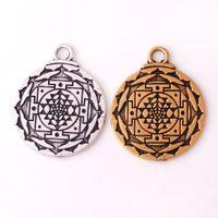 india religiosa al por mayor-HY134 India moda forma de flor religiosos amuleto colgantes wsealth pagano talismán loto colgante encanto joyería al por mayor