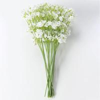 Wholesale flowers resale online - Artificial Flowers forked stars Gypsophila Fake Silk Flower Plant Home Wedding Party Decoration Supplies Silk flower WX9
