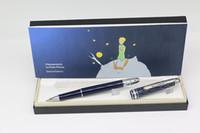 cuerpo recortado al por mayor-De lujo, el pequeño príncipe de la serie MB Roller pen blue body con adornos de plata, material de oficina, material de oficina, regalo