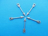 charme für armbänder eine richtung großhandel-400pcs antiker silberner Ton / antike Bronzepfeil-Verbindungs-Anhänger-Charme / finden, Armband-Charme, Halskette, eine Richtung Charms