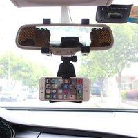 rückspiegel gps halterungen großhandel-Freies verschiffen OOTDTY Universal Auto Rückspiegel Halterung Ständer Halter Auto Cradle Für Smartphone GPS