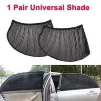 cubierta de malla de luz al por mayor-Ventana 2pcs ventana de coche de la cubierta de la sombrilla Cortina de protección UV Pantalla sombrilla del coche parasol accesorios universales
