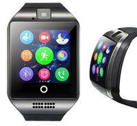 mobiltelefon bluetooth anrufbeantwortung großhandel-Smart Watch Bluetooth-Uhren für Android-Handys unterstützen SIM-Karte Kamera Anruf annehmen und verschiedene Sprachen einrichten Q18