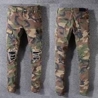 ingrosso grandi dimensioni dei pantaloni-Mens Designer Pantaloni Robin Rock Studs Denim Pants Designer Designer Mens Jeans Large Size Camouflage Pants Mens Jeans
