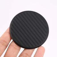 Wholesale carbon fiber mats for sale - Group buy Silicone Black Cup Mat Car Auto Water Cup Slot Non Slip Carbon Fiber Look Mat Accessories ZC0841