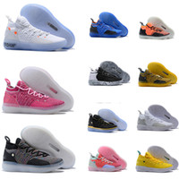 Wholesale newest kevin durant basketball shoes resale online - Mens Trainers Newest KD EP black Foam Pink Paranoid Oreo ICE Basketball Shoes Original Kevin Durant XI KD11 Sneakers Size