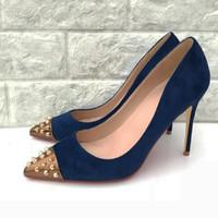 Navy Blue Heeled Shoes Australia | New