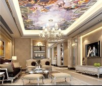 Wholesale paradise paintings for sale - Group buy Custom d Photo Wallpaper Ceiling Living Room Mural Paradise Landscape Oil Painting picture d Wall Room Mural Wallpaper Non Woven Sticker
