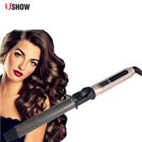 Wholesale nano wands resale online - Ushow Professional Nano Titanium Hair Curler Automatic Ceramic Curling Irons Wand Wave MachineMX190821