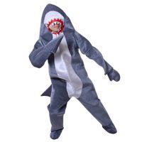 ingrosso costume di squalo blu-Designer Shark Costume adulto Moda Maniche lunghe Costume blu Unisex Cotone Animale Stage Costume Costumi mascotte