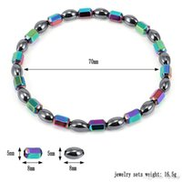 Wholesale weight loss health care resale online - Weight Loss Magnet Anklet Colorful Stone Magnetic Therapy Bracelet Anklet Weight Loss Product Slimming Health Care jewelry