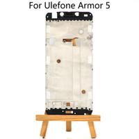 fälle decken ulefone großhandel-Original Frontrahmen für 5,85 Zoll Ulefone Rüstung 5 Frontgehäusedeckel Fall Versammlungs-Wiedereinbau