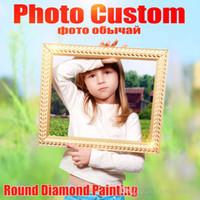 afrikanische kunst gemälde frauen großhandel-30 ~ 50cm Foto-Gewohnheit! 5D DIY Diamantmalerei! Machen Sie Ihren eigenen Diamant-Malerei-vollen quadratischen Diamant-Stickerei-Wand-Kunst-Leinwand-Bildern