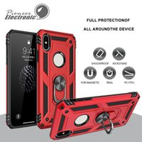 Wholesale rugged cars for sale - New For Samsung Galaxy S10 S10 Plus Hybrid Rugged Shockproof Armor Stand Case For Iphone X XS max Metal Ring Magnetic Car Holder Cover Cases