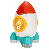 brinquedo do foguete venda por atacado-Bebê Rocket Fountain WaterToys Jogos Do Banheiro Brinquedos de Verão Fun Rocket Fonte de Aspersão de Água Girando Presentes Brinquedos de Água Crianças
