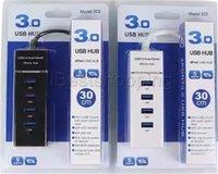 claviers usagés achat en gros de-4 ports USB HUB Adaptateur USB 3.0 Super Speed pour PC Ordinateur Portable Souris Clavier Disques externes Utiliser USB HUB