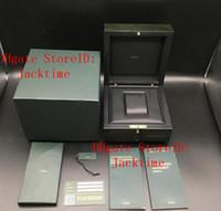 marca impresa relojes al por mayor-Imprima el modelo de tarjeta de serie Número de serie Corregir Papeles Marca Top Caja original de Woody Green Watch para cajas de AP Folletos Relojes