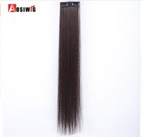 Wholesale long light brown hair extensions for sale - Group buy 2 Clip In Hair Extensions Synthetic Piece Colors Long Straight Clip On High Temperature Fiber Hair Extensions Hairpieces