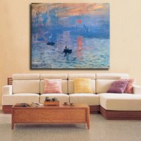 Wholesale paintings impressionism for sale - Group buy Claude Monet Impressionism Landscape Sunset Art Canvas Poster Painting Wall Picture Print Home Bedroom Decor