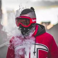 Wholesale anti fog motocross goggles resale online - FW15 Sup Ski GlassesSports Snowboard Goggles Double lens Anti fog Ski Goggles Motocross Masks Eyewear