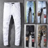 desgaste de los vaqueros de la calle de los hombres al por mayor-2019 jeans de diseñador de marca famosa de alta calidad ropa de calle de moda para hombre jeans para hombre pantalones de hombre