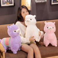 Wholesale alpaca soft toys for sale - Group buy Hot New PC CM Cute Saddle Alpaca Plush Toys Soft Plush Alpacasso Alpaca Dolls Stuffed Animal Toy Children Birthday Gift T191019