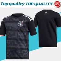 fútbol 14 al por mayor-Nuevo 2019 México CCCF Copa de oro en casa negro Soccer Jersey # 14 CHICHARITO 19/20 # 22 H.LOZANO Uniforme de fútbol de jersey negro para hombres En venta