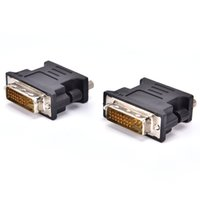 Wholesale 15 pin vga adapter resale online - DVI I Male Pin DVI Male to VGA Female Video Converter Adapter for PC laptop HDTV LCD DVD Computer Projector