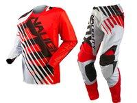 bisiklet yarışı formaları beyaz toptan satış-Ücretsiz Nakliye 2018 NAUGHTY 2018 MX 360 SAVANT KıRMıZı / BEYAZ Jersey Pantolon Combo Motocross Suit Dirt Bike Off-road MX Yarış dişli