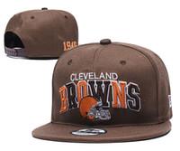 tapas de bolas de color marrón al por mayor-2019 Sports Browns headwear Titans Plaid Design Snapback Caps Todo el equipo Pelota de béisbol Snapbacks ajustables Bills Sombreros deportivos de alta calidad