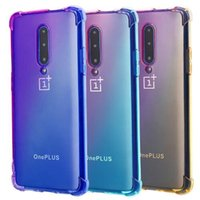 Wholesale tpu case cover for oneplus one online – custom For Oneplus One Plus Pro T Gradient Colors Anti Shock Airbag Case Four Air Corner Cover