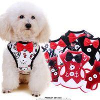 Wholesale plaid dog collars for sale - Group buy Pet bowknot Harness Leash Set Walking Training Leashes Breathable plaid stripe Mesh Dog Puppy Vest Harness Collar M LJJA1988