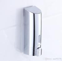 nouveaux modèles de savon achat en gros de-Nouveau Design Cuisine Salle De Bains Distributeur De Savon Montage Mural Simple Chrome Distributeur Bambou Mousse Liquide Automatique P113-01C