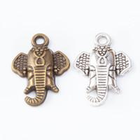 Wholesale silver ganesha for sale - Group buy 100pcs MM Vintage silver antique bronze elephant Ganesha charms pendants for bracelet necklace earring diy jewelry making