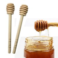 ingrosso partito di cucchiaio di legno-8 cm di lunghezza Mini Legno Miele Stick Dipper Party Supply Legno Miele Cucchiaio Stick per Honey Jar Stick Forniture Utensili da cucina