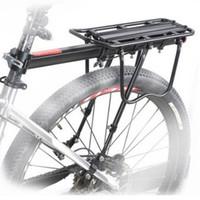 Wholesale rear bike racks online - Bike Rack Aluminum Alloy Luggage Rear Carrier Trunk for Bicycles MTB Bike Rear Shelf Cycling Bicycle Racks LJJZ189