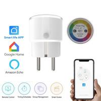 zamanlayıcı anahtarı wifi toptan satış-Tuya Hayat Mini Akıllı Soket Wifi Ab Tak 2000 w 10a Güç Çıkışı Zamanlayıcı Anahtarı Ses Kontrolü Alexa Google Ifttt J190522 Ile Çalışmak