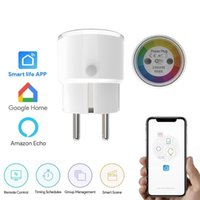 Wholesale timer outlet for sale - Group buy Tuya Life Mini Smart Socket Wifi Eu Plug w a Power Outlet Timer Switch Voice Control Work With Alexa Google Ifttt J190522