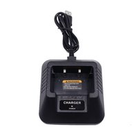 ingrosso batteria cb-Baofeng UV-5R Caricabatteria USB da tavolo per Baofeng UV-5R UV-5RE DM-5R Plus Caricabatterie Li-Ion CB Radio Walkie Talkie Accessori